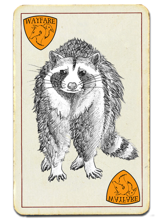 Drawing of a Racoon - Wayfare Pest Solutions Most Wanted - Nuisance Wildlife